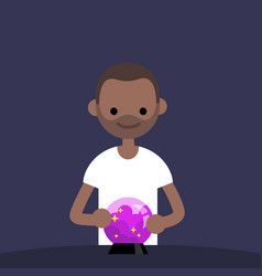 Trend watching conceptual young black character vector
