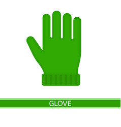 warm winter glove isolated vector image vector image