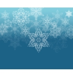 Winter ornament background vector