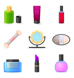 Icons set woman accessories vector image