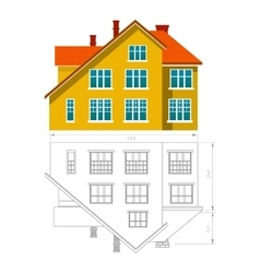 House icon and drawing vector