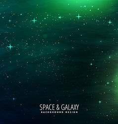 space background with green lights vector image