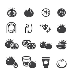 Tomato icon set vector