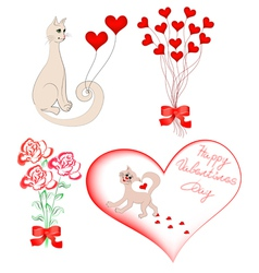 set of elements for Valentine vector image