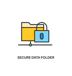 secure data folder icon vector image