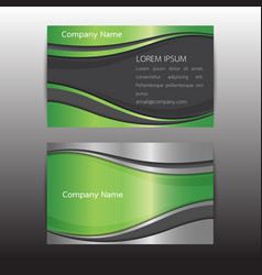 Eco business card concept idea vector
