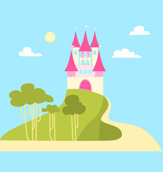 Castle for the princess vector