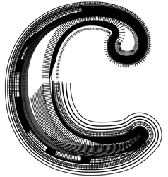 abstract font letter c vector image