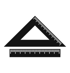 2 school rulers simple icon vector