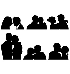 Set of couple in different positions vector