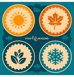 Four seasons design vector