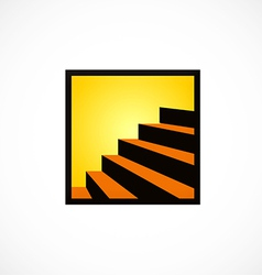 Stair interior design abstract logo vector