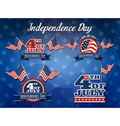 Independence day badge collection vector