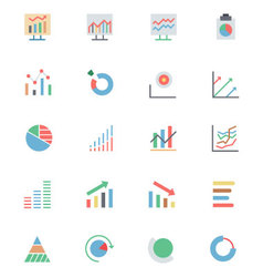 Data analytics colored icons 3 vector