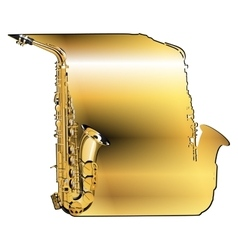 Background saxophone vector