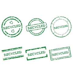 Recycled stamps vector