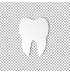 tooth dental on transparent background vector image