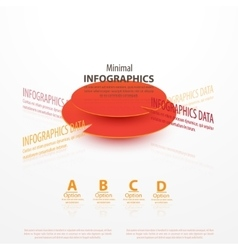 Business Infographics circle origami vector image