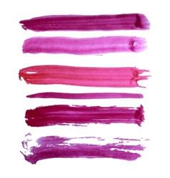 Colorful watercolor brush strokes vector