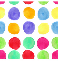 colorful watercolor seamless pattern with circles vector image