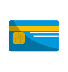 credit card to save money in the bank vector image