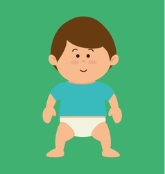 Cute little baby character vector