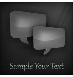 Dark speech bubbles vector image