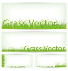 Green Grass Set Isolated On White Background vector image vector image