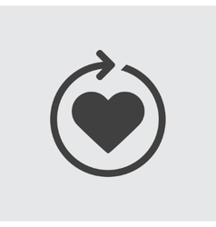 Heart reload icon vector image vector image
