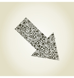 Modular arrow vector image vector image