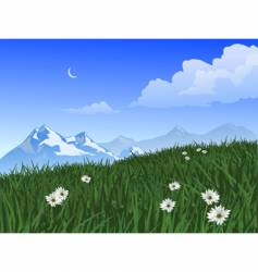 mountain scene vector image vector image