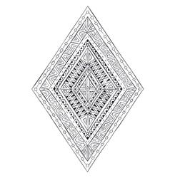 Original drawing ethnic tribal doddle rhombus 4 vector