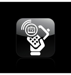 phone tv icon vector image vector image