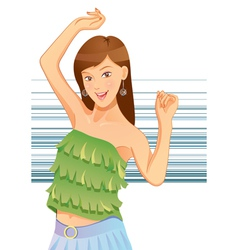 pretty girl dancing vector image vector image