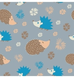 Seamless Pattern with Cute Cartoon vector image