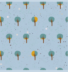 Seamless smale sized tree pattern vector