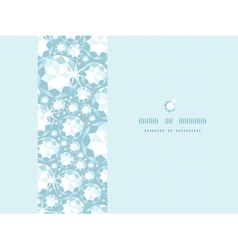 Shiny diamonds horizontal frame seamless pattern vector image