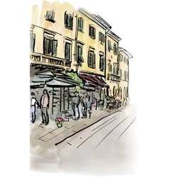 street in Italy vector image