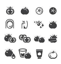 Tomato icon set vector