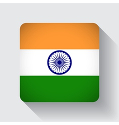 Web button with flag of india vector
