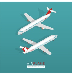 Set with airplane icons vector image