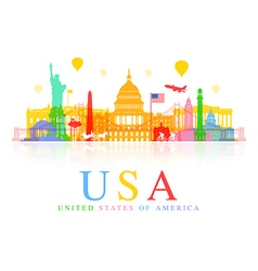 Usa travel vector