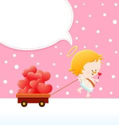 Cupid Delivering Love vector image
