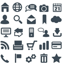 Universal set of icons for web and mobile vector image