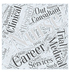 Looking for alternative nursing careers word cloud vector