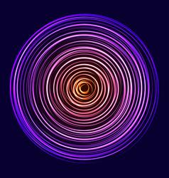 Glow spin neon circles vector