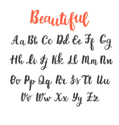 Hand draw alphabet uppercase and lowercase vector
