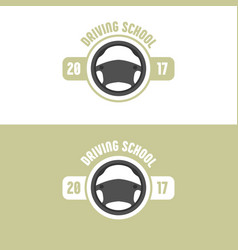 driving school logo vector image