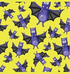 Seamless pattern with bats vector