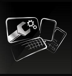 Repair of smartphones and computer equipment vector